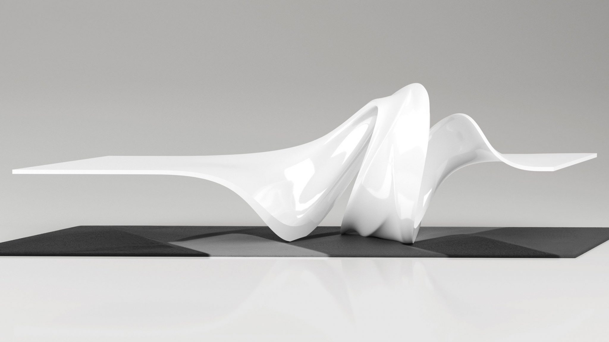 Le A Coffee Table By Zaha Hadid Design One Hundred Edition