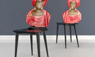 Chair Moro by Piero Fornasetti is selected one of the best contemporary chairs for its unique design and creativity.