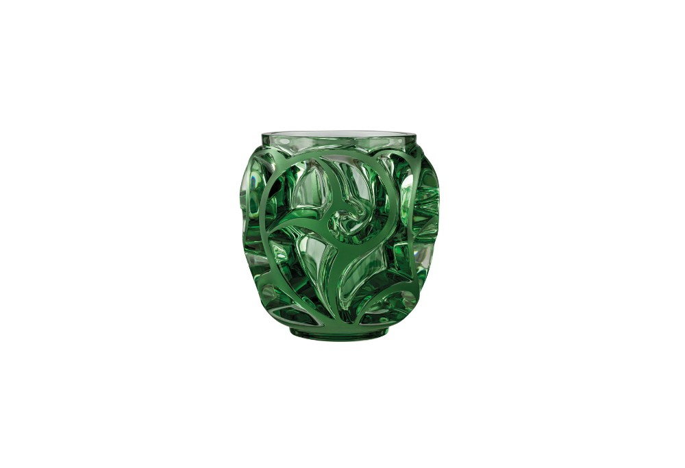 I Wish Lalique Tourbillons Limited Edition Green Vase One Hundred