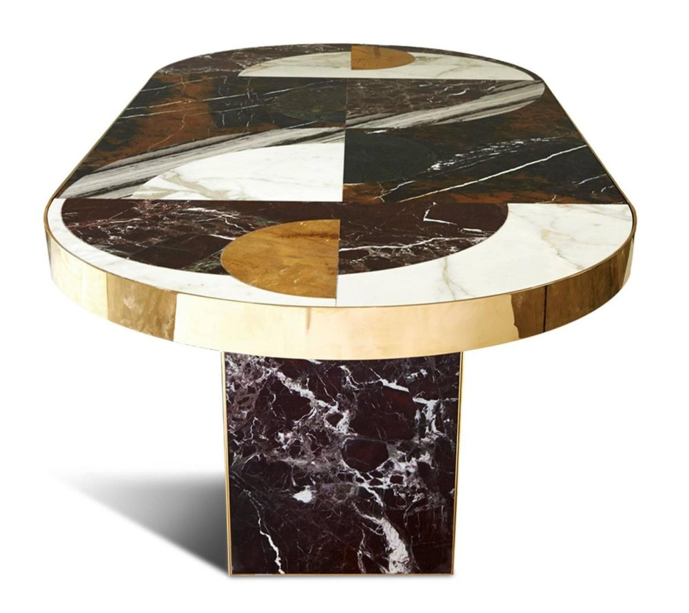 100 Products Half Moon Dining Table By Lara Bohinc One Hundred Edition