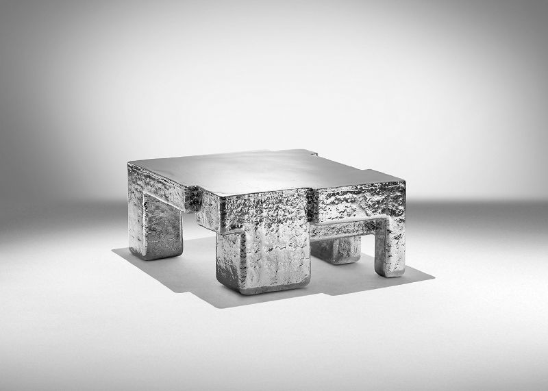 studio nucleo Studio Nucleo's Most Remarkable Projects And Creative Works    Metal Fossil    Nickel coffee table