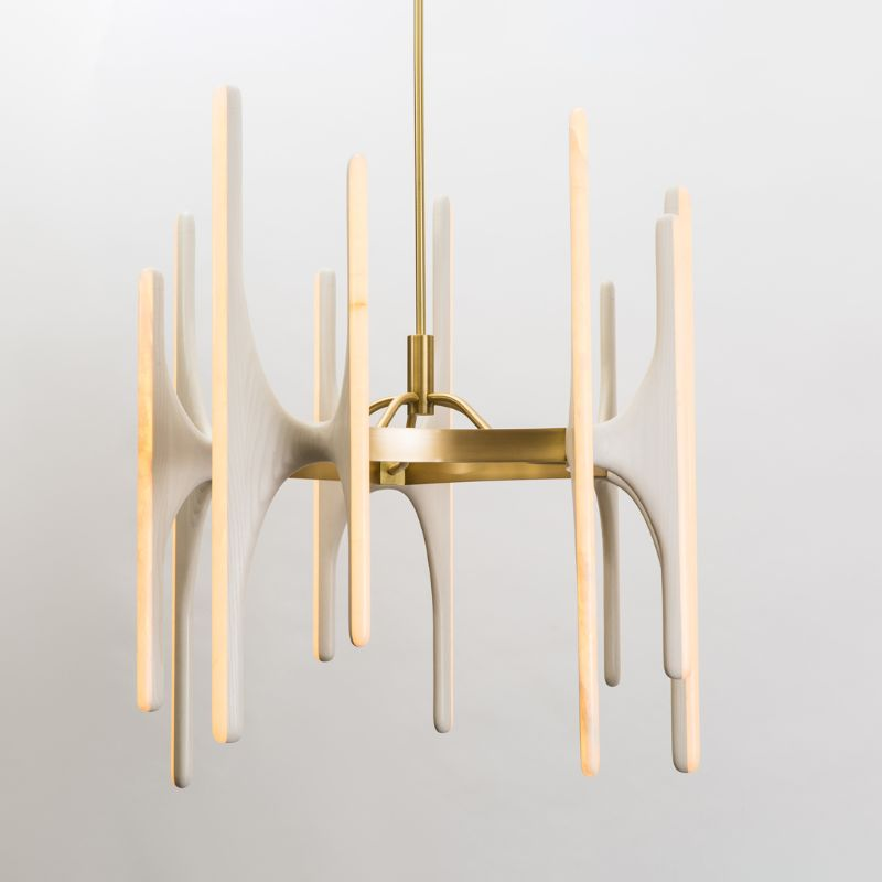 Dive Into Markus Haase's World Of Stunning and Luminous Creations markus haase Dive Into Markus Haase's World Of Stunning and Luminous Creations Markus Haase Bleached Ash and Onyx Chandelier