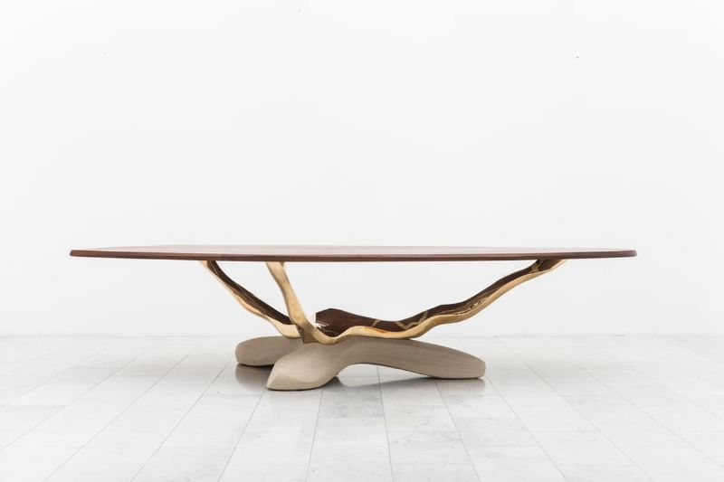 Dive Into Markus Haase's World Of Stunning and Luminous Creations markus haase Dive Into Markus Haase's World Of Stunning and Luminous Creations Markus Haase Bronze Walnut and Limestone Dining Table