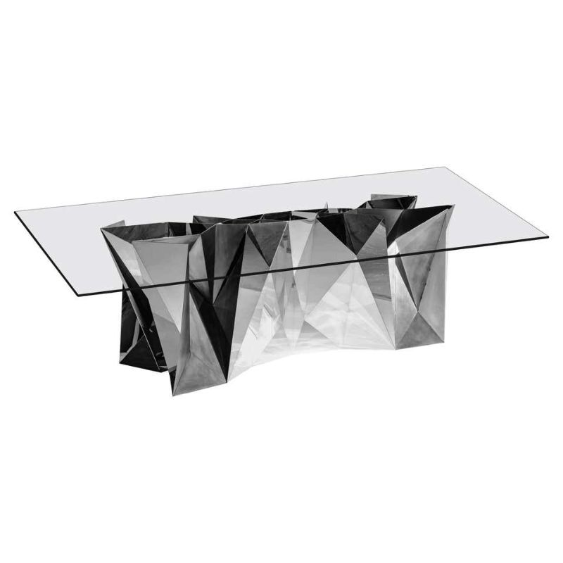 zhoujie zhang Zhoujie Zhang Merges Digital Design With Art Furniture Object MT S1 S Mirror Polished Stainless Steel Table